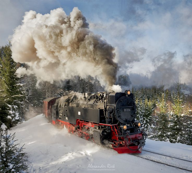 """Winter Travels - A steam train climbing up the Harz mountains from last winter. Have a great weekend everybody! Feel free to follow me on <a href=""""https://www.facebook.com/pages/Alexander-Riek-Photography/588013561261816"""">FACEBOOK</a> or to visit my <a href=""""http://www.photographichorizons.com"""">WEBSITE</a>"""