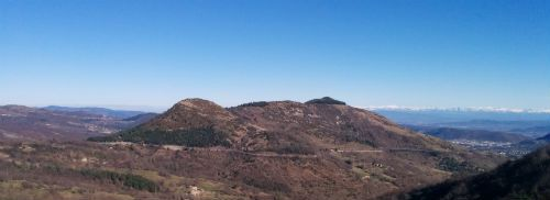 Le col de l'Escrinet en Ardèche : vue nord-est