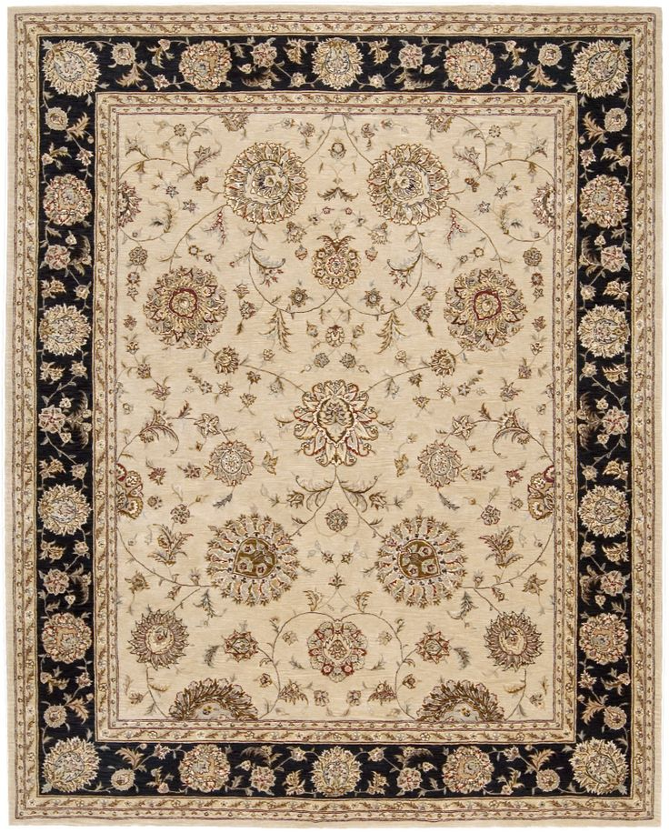 RugStudio Presents Nourison 2000 2207 Beige Hand Tufted, Best Quality Area  Rug