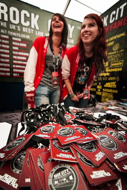 There were lots of commercial stands at the Freshers' Fair, including Rock City, a famous Nottingham music venue and night club!