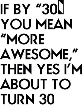 """If by """"30″ You Mean """"More Awesome,"""" Then Yes I'm About to Turn 30"""