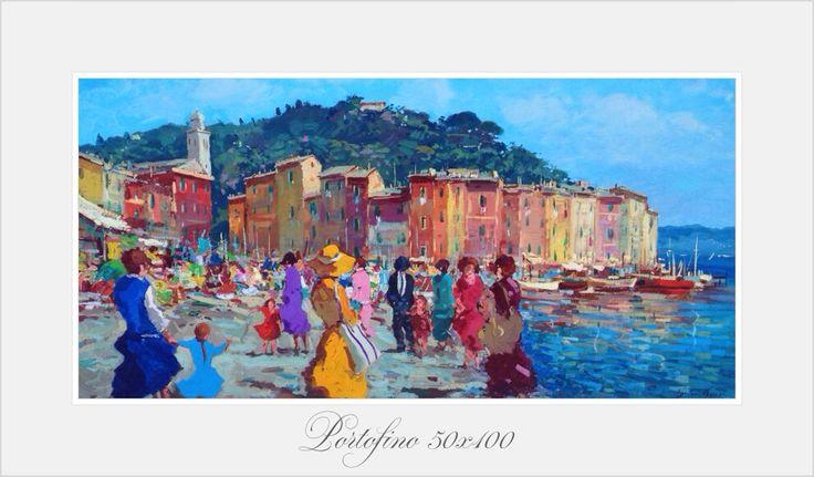 Portofino 50x100 oil on canvas