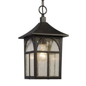 15 125 In Black Hardwired Outdoor Pendant Light
