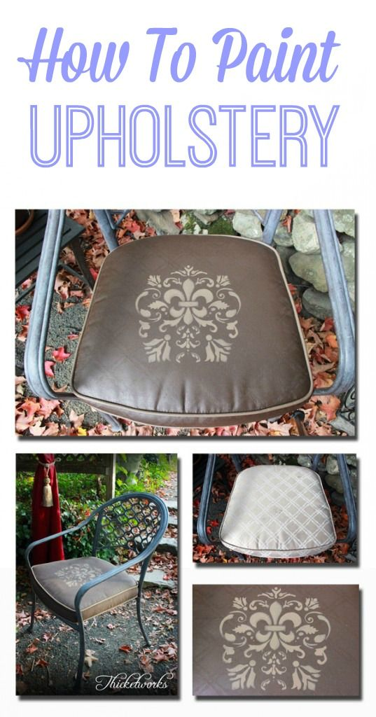 How to Paint Upholstery! Great technique for updating old Seat Cushions!! It looks so much prettier and still feels soft! Heirloom Traditions Fab #ad