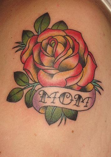 Mom / Mother Memorial Rose Tattoo, memorial tattoo ideas, in memory of mom, Mother Tattoo