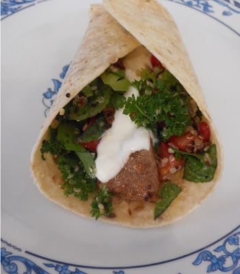 The Bunny's Burrow: Lamb and Tabbouleh Wraps