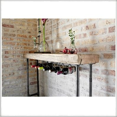 Reclaimed wood Wine bar table | reclaimed furniture |small sofa table