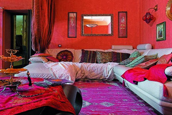 ■モロッコ風のファブリック : 【インテリア】新しいエスニックインテリア・フレンチモロッコ / モロッカンスタイルの部屋まとめ - NAVER まとめ