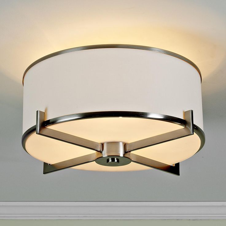 Soft Contemporary Ceiling Light - 2 finishes  This would look great in my guest room