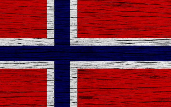 Download wallpapers Flag of Norway, 4k, Europe, wooden texture, Norwegian flag, national symbols, Norway flag, art, Norway