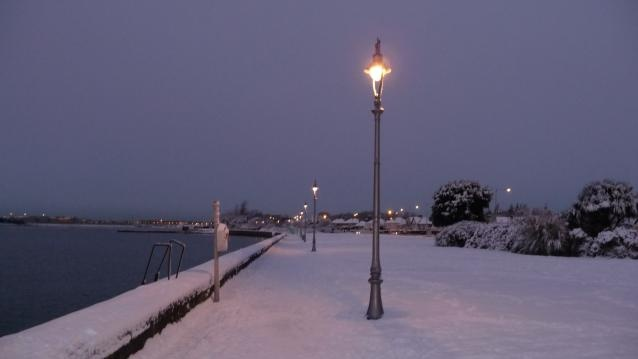 Clontarf in the snow.