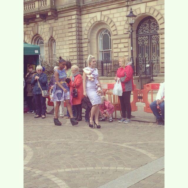 Blackburn College students Fashion Cat Walk -  Blackburn is Open Street Party #biostreetparty #blackburnisopen #blackburn #streetparty