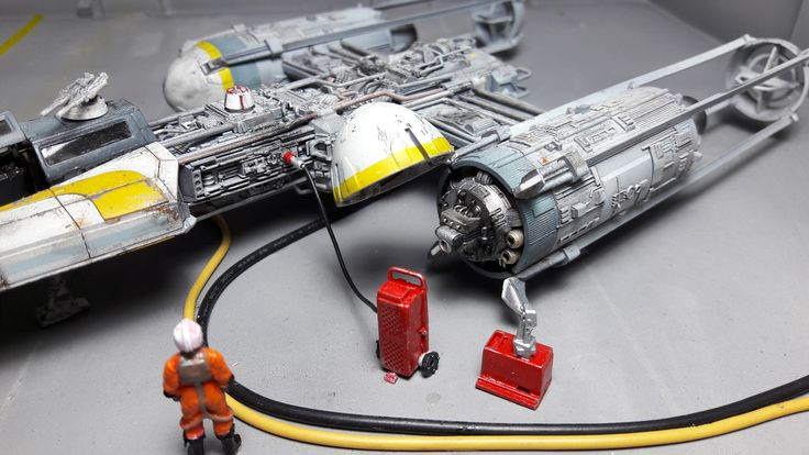 MOTY 2017 Entry Y-Wing Starfighter This is my build of the Bandai Star Wars Y-Wing Starfighter in 1:72 scale.  When I first saw this kit I knew it would be a weathering dream. The Y-Wing was always a well used beaten up workhorse in the movies. The model was constructed over a period of a few mo