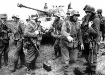 SS-Panzerkorps near Buczacz on 6 April 1944. In April the shattered remnants of the Kampfgruppe were ordered to Belgium to join the rest of the division
