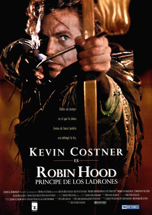 Robin Hood Príncipe De Los Ladrones 1991 Robin Hood Afiche De Pelicula Carteleras De Cine