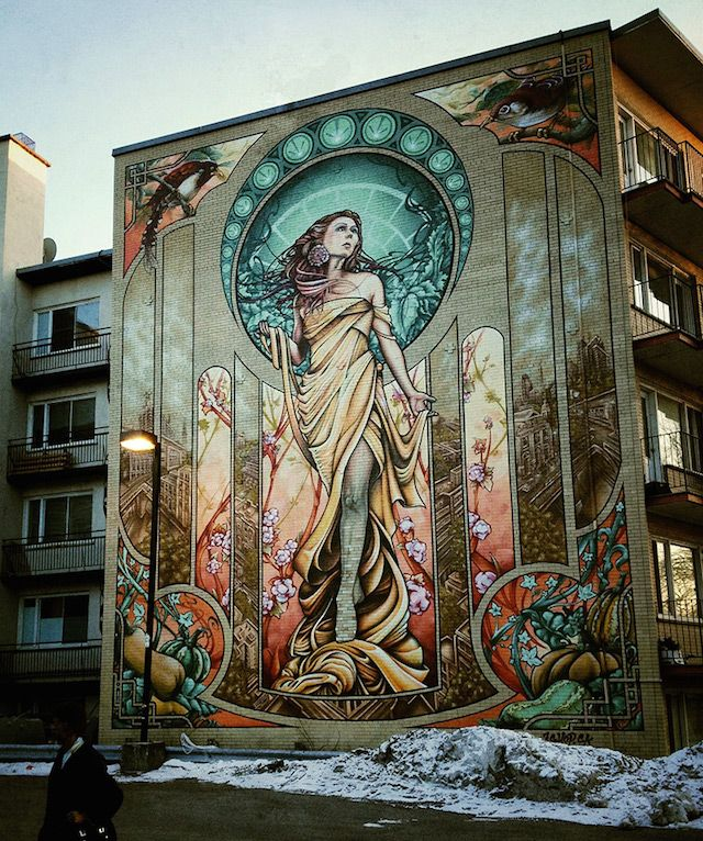 Streetart: Murals by A'shop Crew from Montreal // Canada (7 Pictures + Clip)