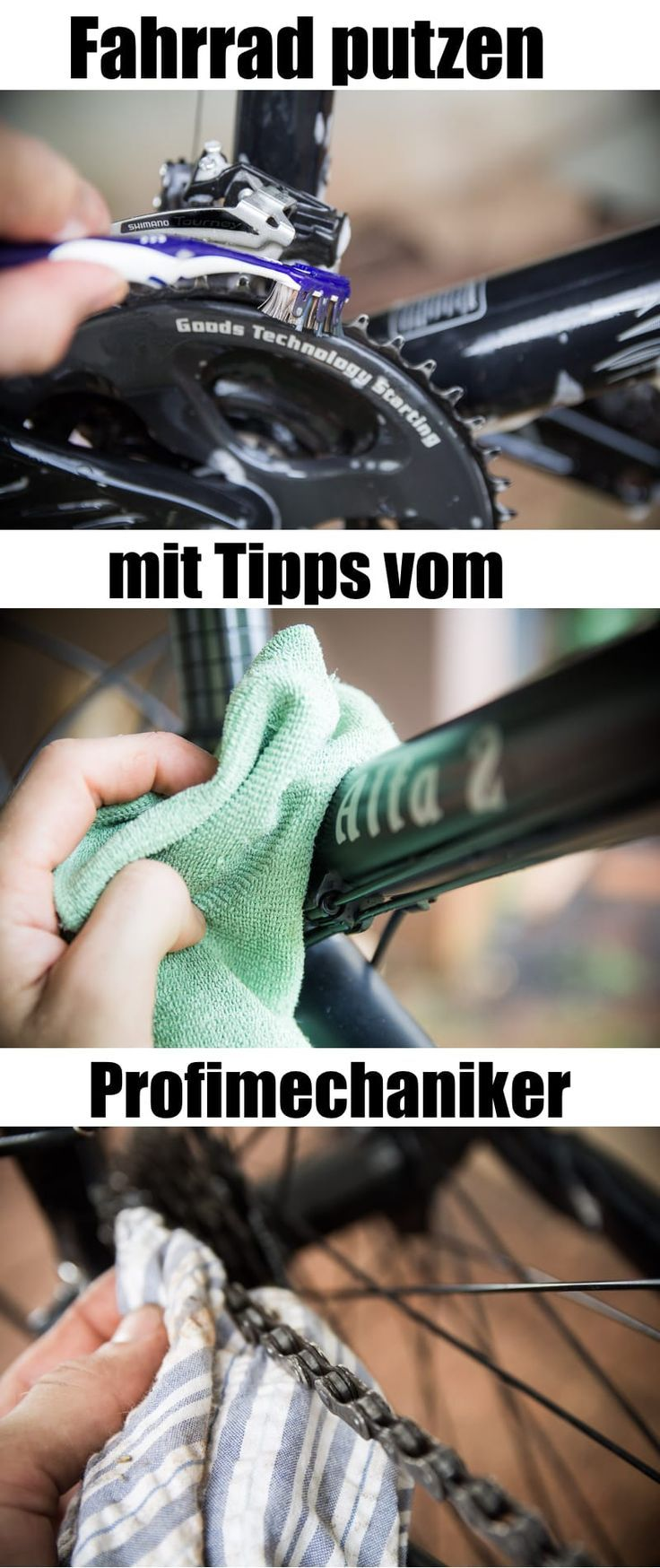 Cleaning the bike: That's what the pros do