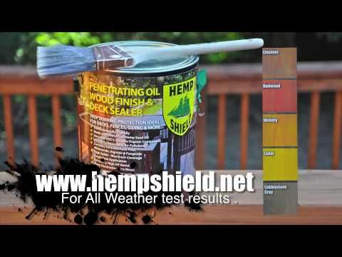 Hemp Shield Wood Finish and Deck Sealer - YouTube