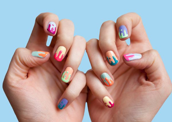'Slime' nails, from 'The Hand Book' by Chelsea Bagan and Anna Ross