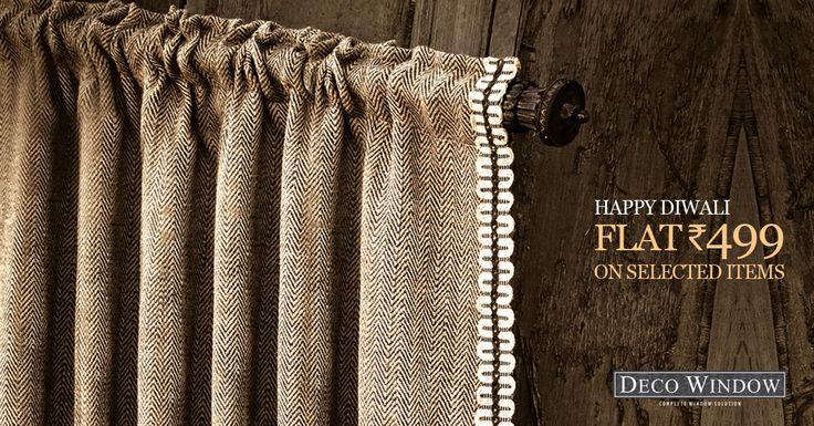 #Diwali_Sale! Attractive #DecoWindow #Curtains… Only @499 http://goo.gl/Du97Vs  Follow Us for More... www.pinterest.com/decowindow/ #DecoWindow #Curtains #Cushions #Curtain_Rod #Diwali_Sale