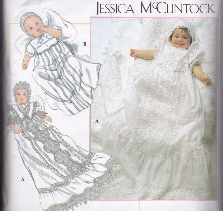 Christening Dress Pattern Baby Sewing Pattern New Born to 18 Months Heirloom Sewing Smocked Dress Simplicity 9378 by SuesUpcyclednVintage on Etsy
