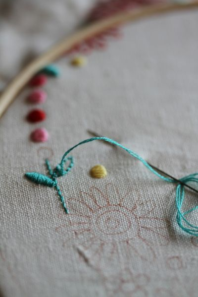 Inspiration for time spent learning hand stitching and embroidery.