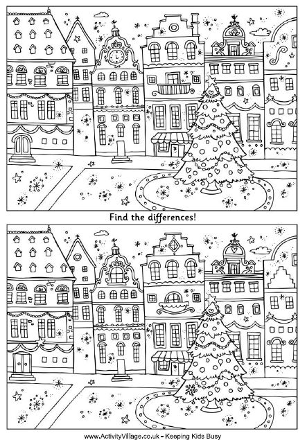 Christmas street - find the differences