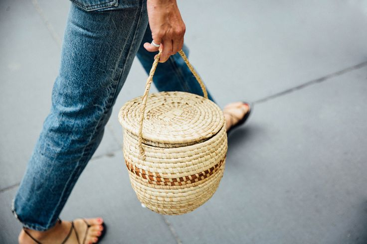 new bag trend - straw basket bags