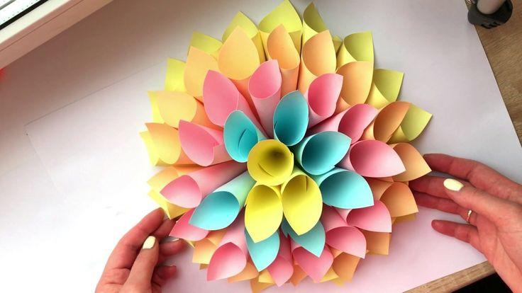 DIY БЮДЖЕТНЫЙ ДЕКОР КОМНАТЫ ТОЛЬКО ИЗ БУМАГИ. Room decor. Оригами. Цветок из бумаги Оригами цветы