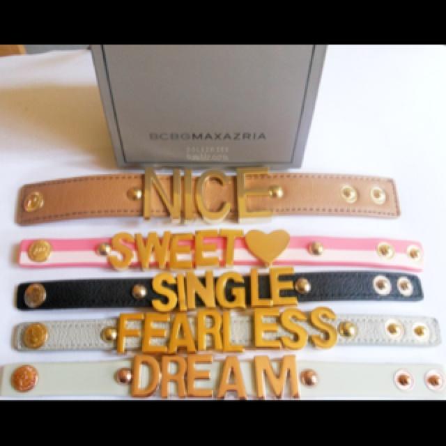 BCBG Affirmation Bracelets.