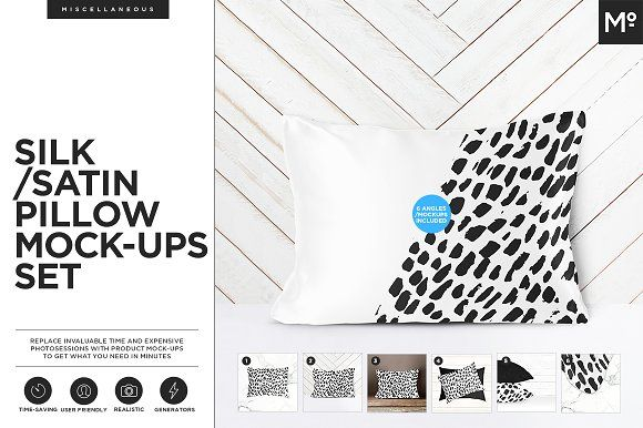 Download Satin Silk Pillow Mock Ups Set Silk Pillow Mockup Mocking