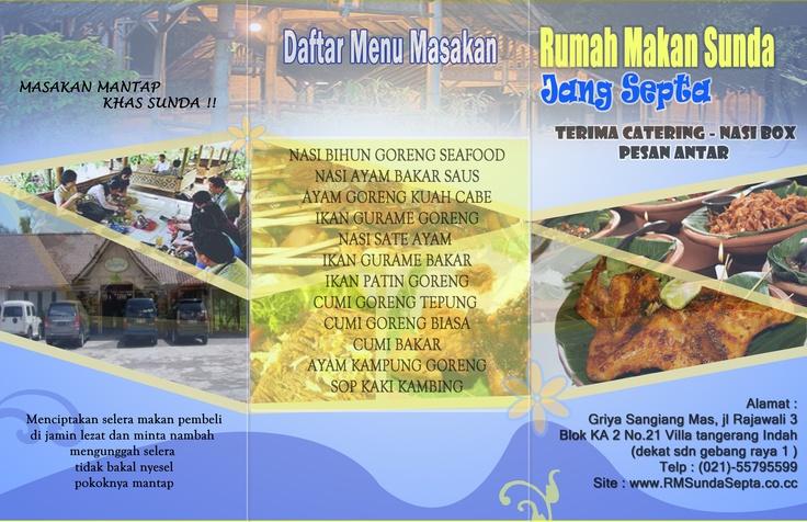 brochure rumah makan