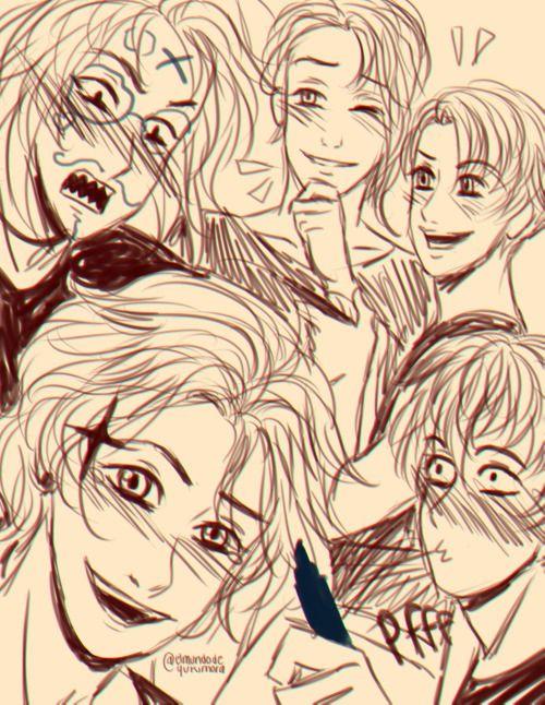 Nathaniel, Castiel, Lysandre, Armin and...