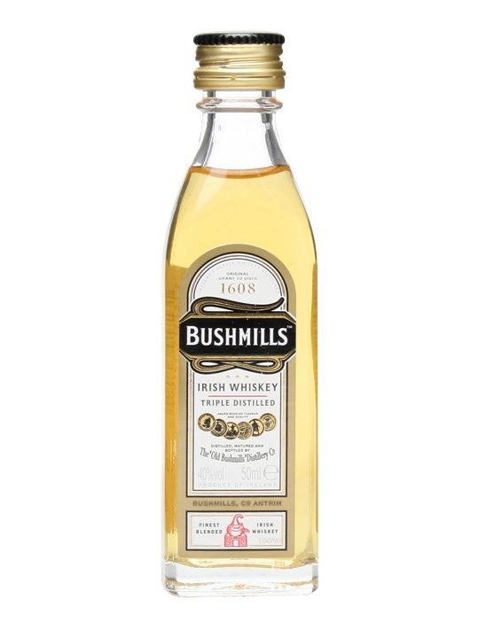 Bushmills Original : Buy Online - The Whisky Exchange - A mini bottle of Bushmills's no age statement Original blended Irisih whiskey.