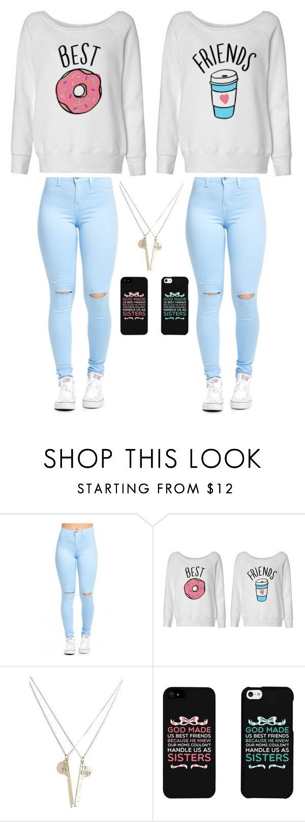 """""""Best Friends @kam20002"""" by gymnastics7 ❤ liked on Polyvore featuring The Giving Keys, women's clothing, women, female, woman, misses and juniors"""