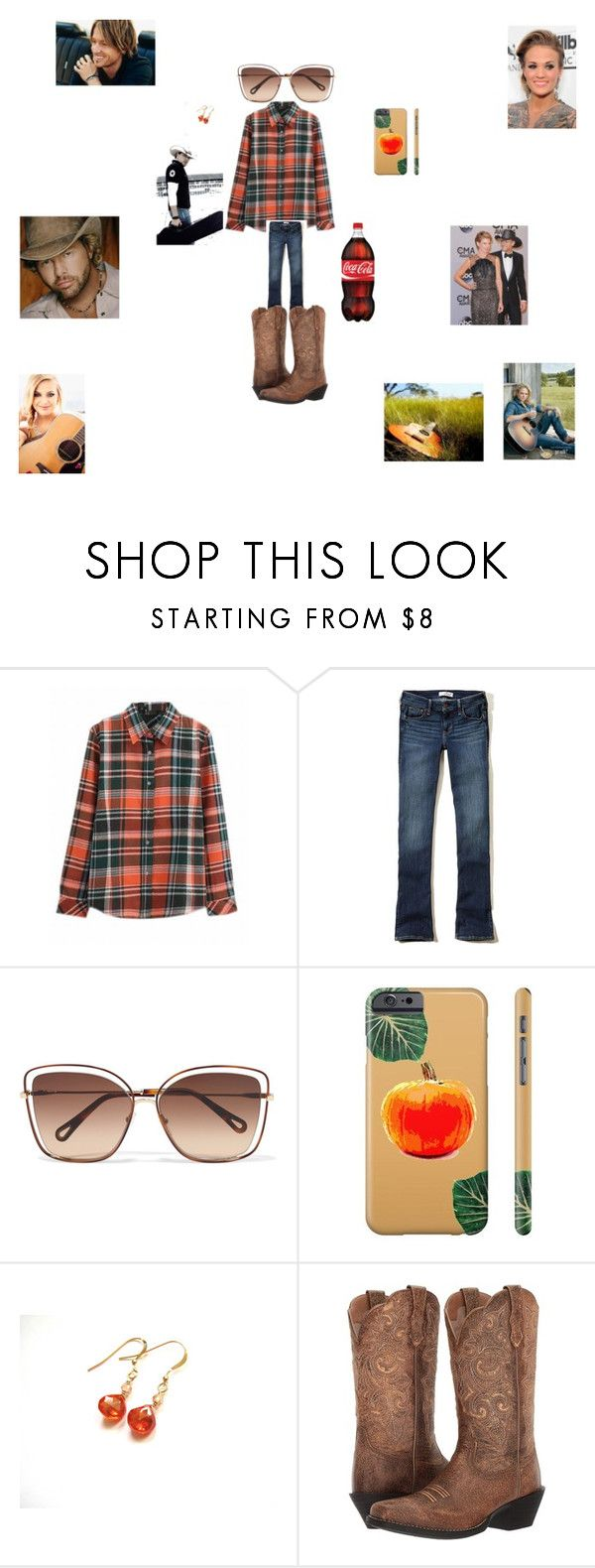 """Country Concert"" by hanna-debruhl ❤ liked on Polyvore featuring Hollister Co., Chloé, Duckfeet, Ariat and country"