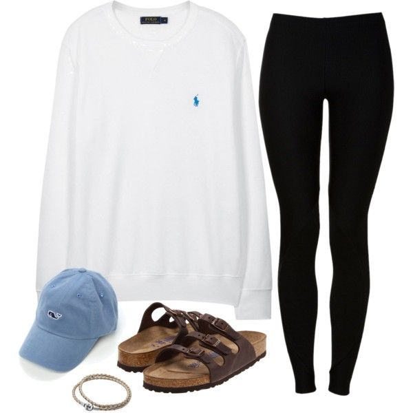 A fashion look from October 2015 featuring Polo Ralph Lauren sweatshirts, Red Label leggings y Birkenstock sandals. Browse and shop related looks.