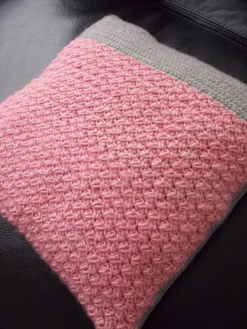 Gehaakte kussenhoes (met link naar gratis patroon) / crochet cushioncover (with link to free pattern)