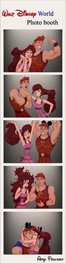 Hercules and Meg - disney-couples Photo