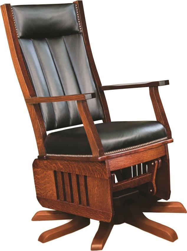 Amish Leola Mission Swivel Glider Rocking Chair Rocking