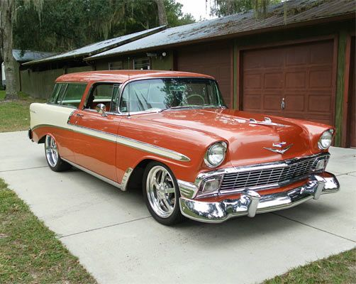 ✿1956 Chevrolet Bel Air Nomad✿ Maintenance/restoration of old/vintage vehicles: the material for new cogs/casters/gears/pads could be cast polyamide which I (Cast polyamide) can produce. My contact: tatjana.alic14@gmail.com