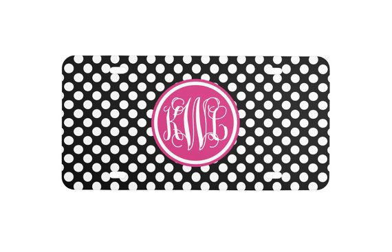 Personalized Monogrammed License Plate by LoveyDoveyCreations