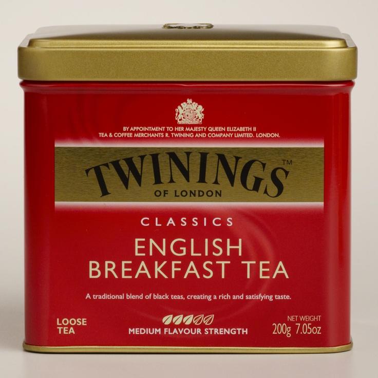 Twinings English Breakfast Tea Tin   World Market