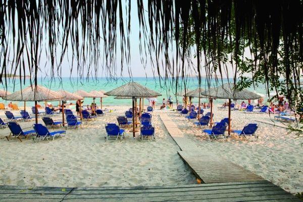 Psili ammos beach bar Thassos Greece