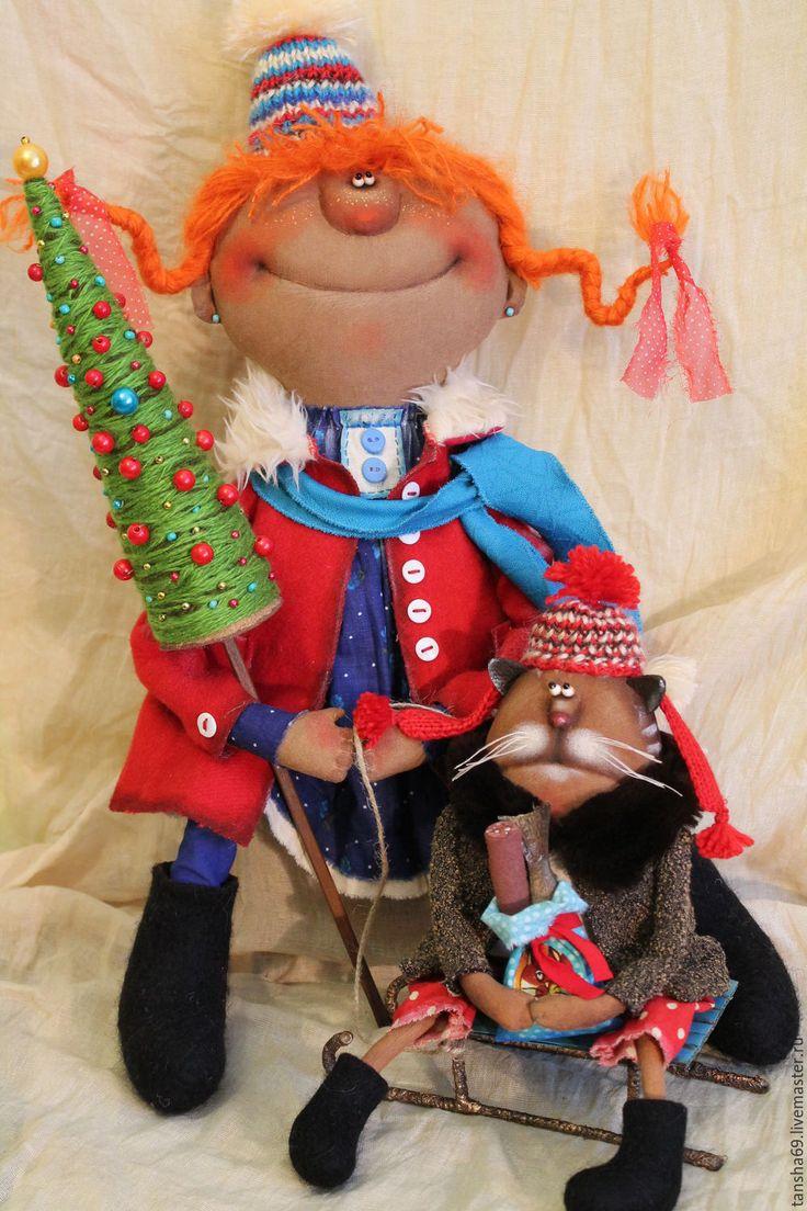 Купить И будет праздник!... - комбинированный, текстильная кукла, ароматизированная кукла, интерьерная кукла