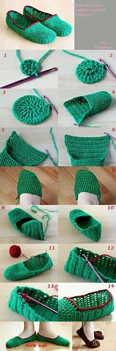Zapatos a crochet paso a paso