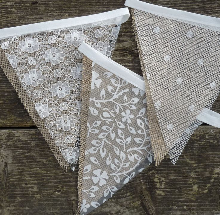 diy wedding invites rustic%0A Lace  u     Hessian Bunting Wedding Shabby Chic Spots or Floral Vintage Rustic