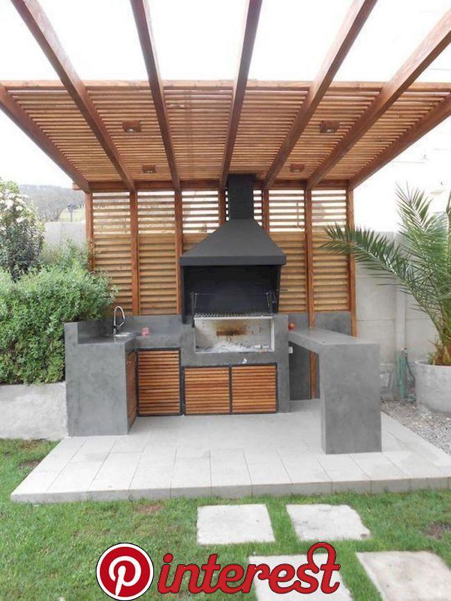 30 Minimalist Outdoor Kitchens Design On A Budget A Thriving Minimalist Kitchen Design Begins With The Countertop The Bronze Backyard Design Backyard Patio