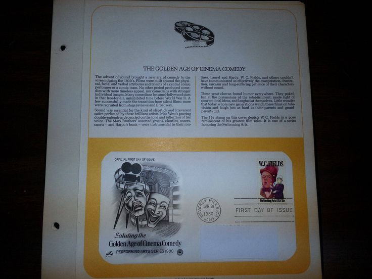 Golden Age Of CINEMA COMEDY W.C. Fields U.S. 15cent First Day Cover FDC 1980 by UpstateNYAntiqueVint on Etsy