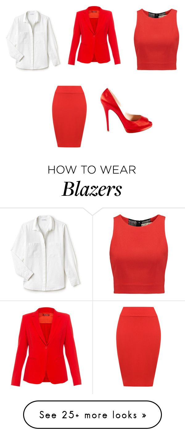 """blazer line"" by hazelwoodnaomi on Polyvore featuring MaxMara, WearAll, Casadei, Lacoste and Alice + Olivia"